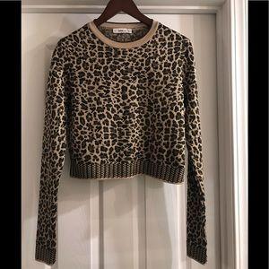 ZARA Knit Cropped leopard sweater